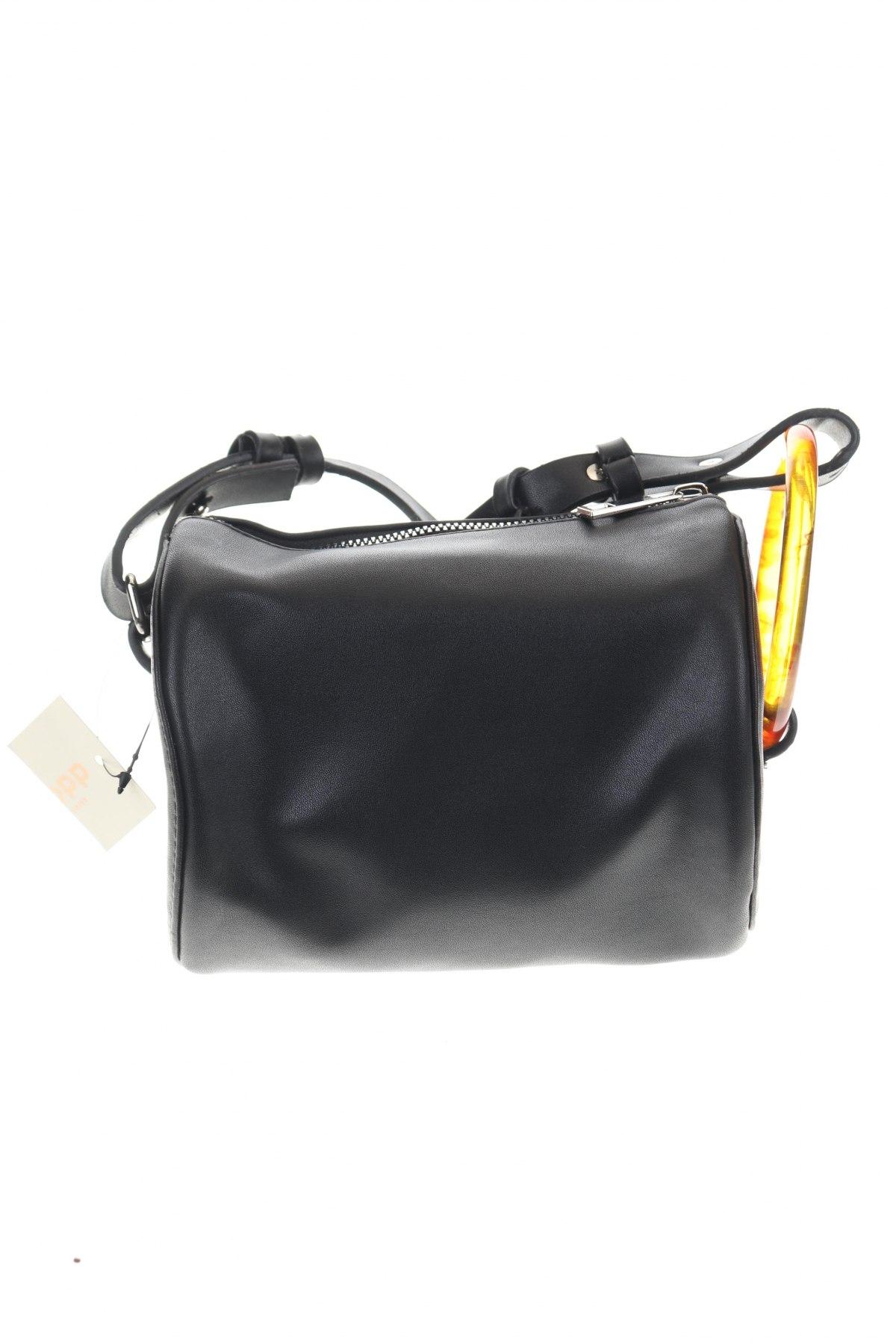 Дамска чанта Cropp, Цвят Черен, Еко кожа, Цена 26,95лв.