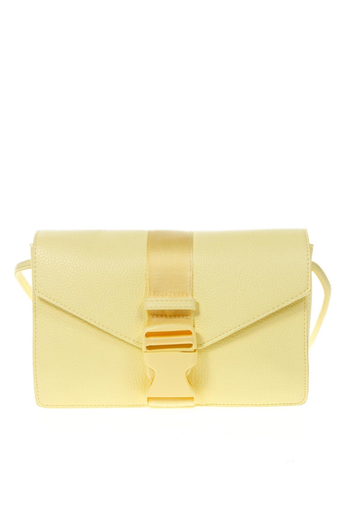 Дамска чанта Cropp, Цвят Жълт, Еко кожа, Цена 15,36лв.