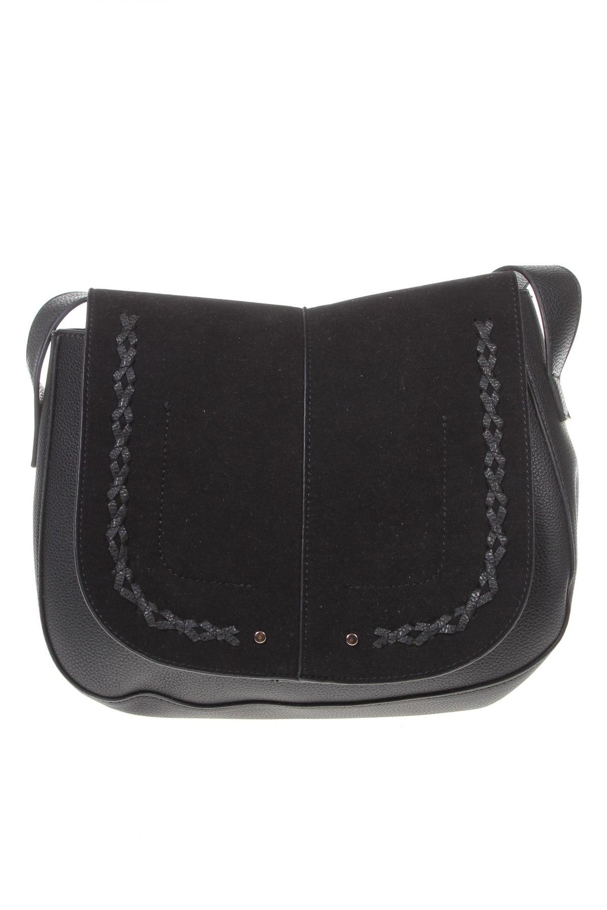 Дамска чанта House, Цвят Черен, Еко кожа, текстил, Цена 36,75лв.
