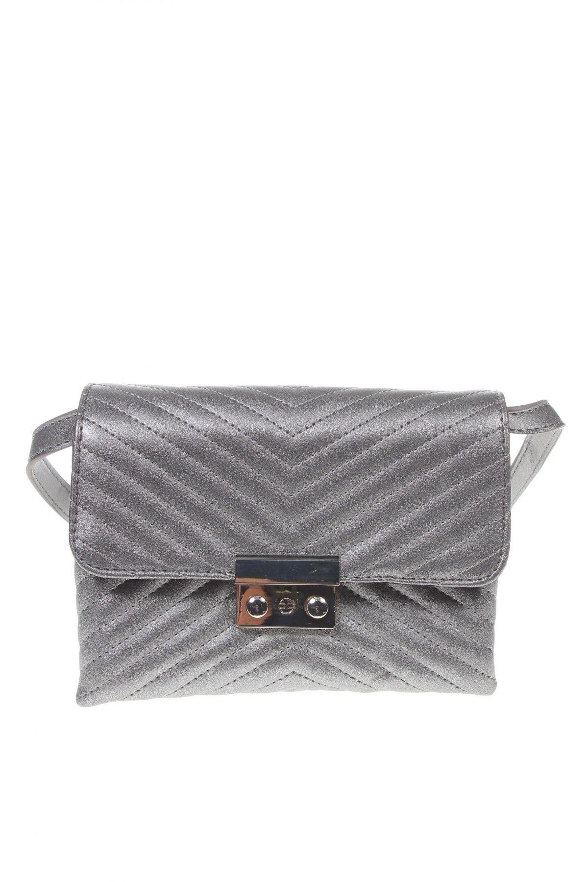 Γυναικεία τσάντα House, Χρώμα Ασημί, Δερματίνη, Τιμή 16,24€