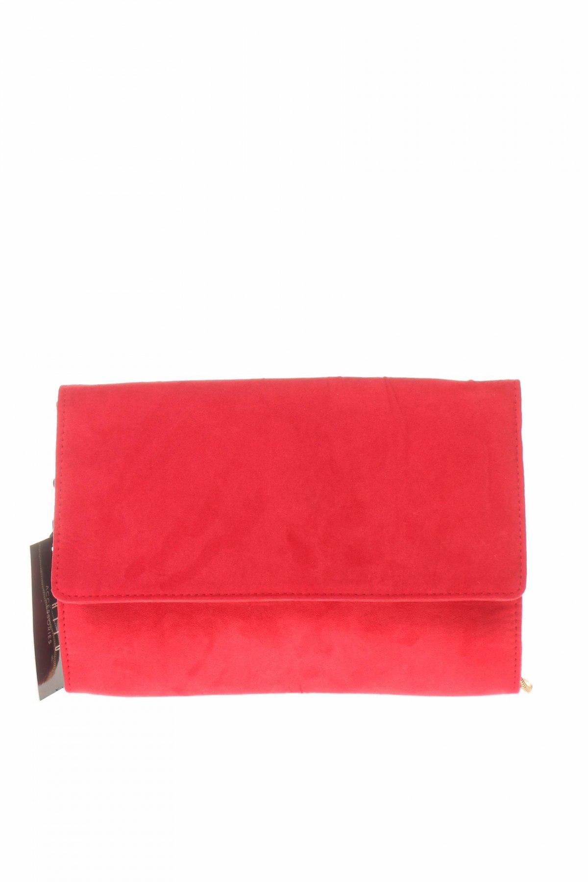 Дамска чанта Mohito, Цвят Червен, Текстил, Цена 28,42лв.