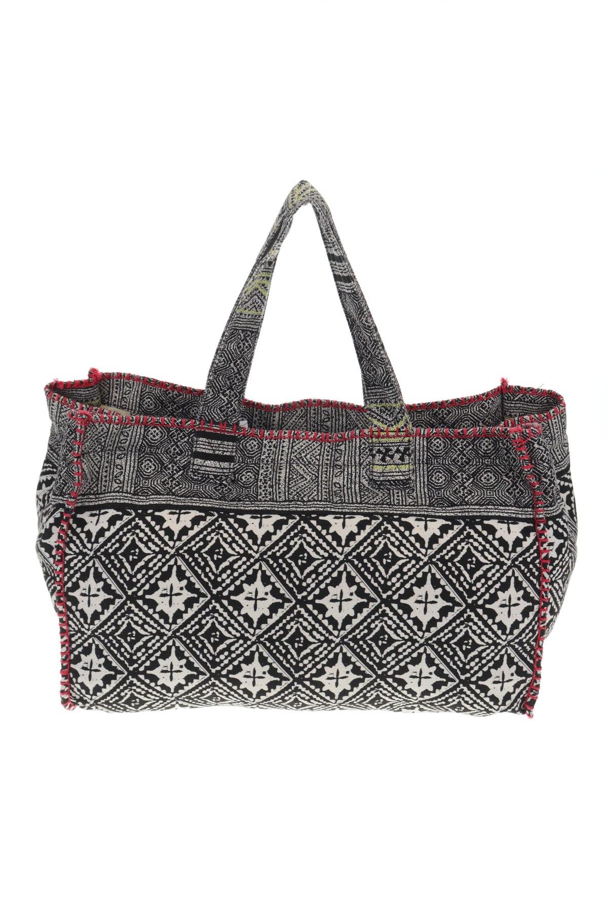 Дамска чанта Reserved, Цвят Многоцветен, Текстил, Цена 44,25лв.