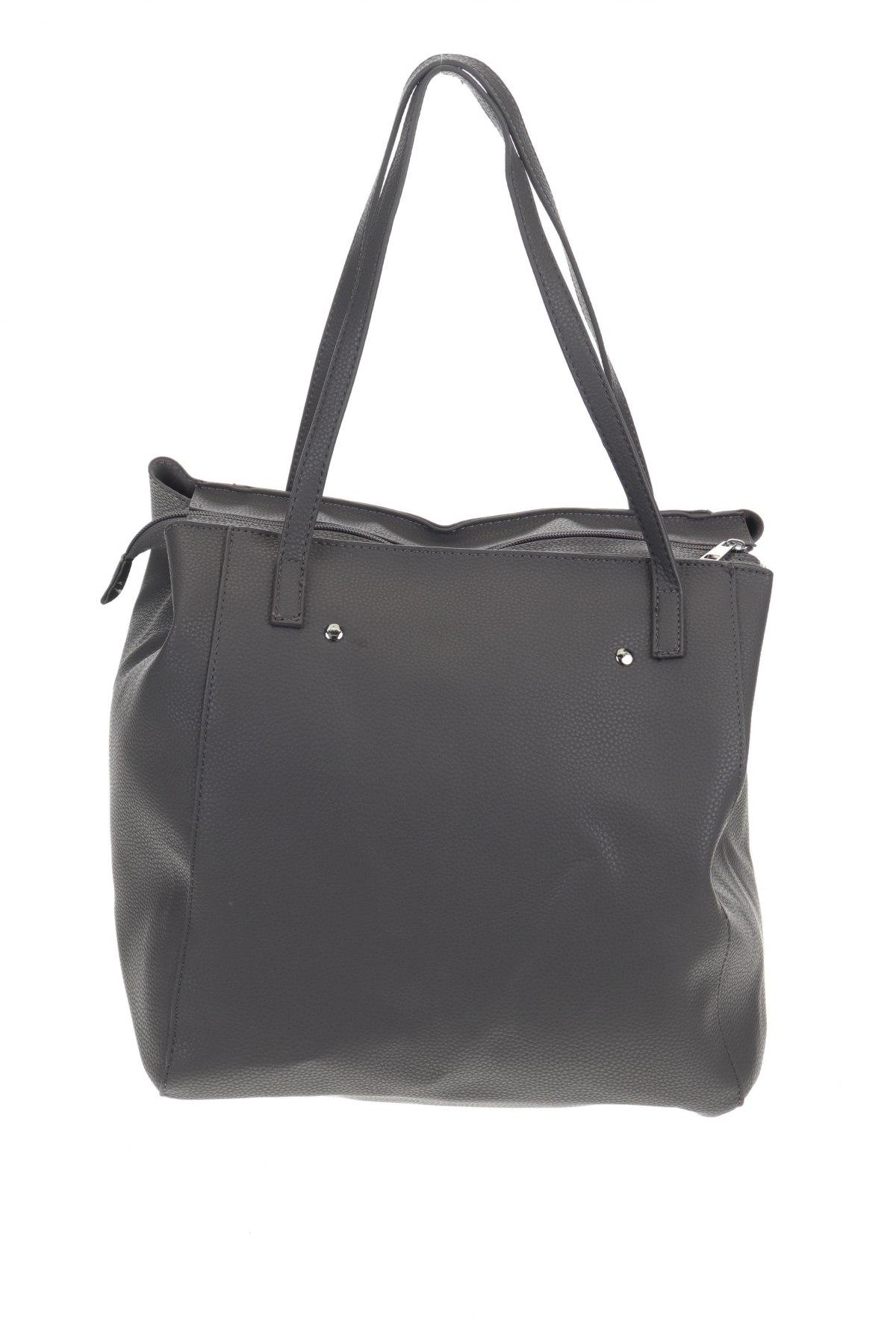 Дамска чанта Reserved, Цвят Сив, Еко кожа, Цена 26,55лв.