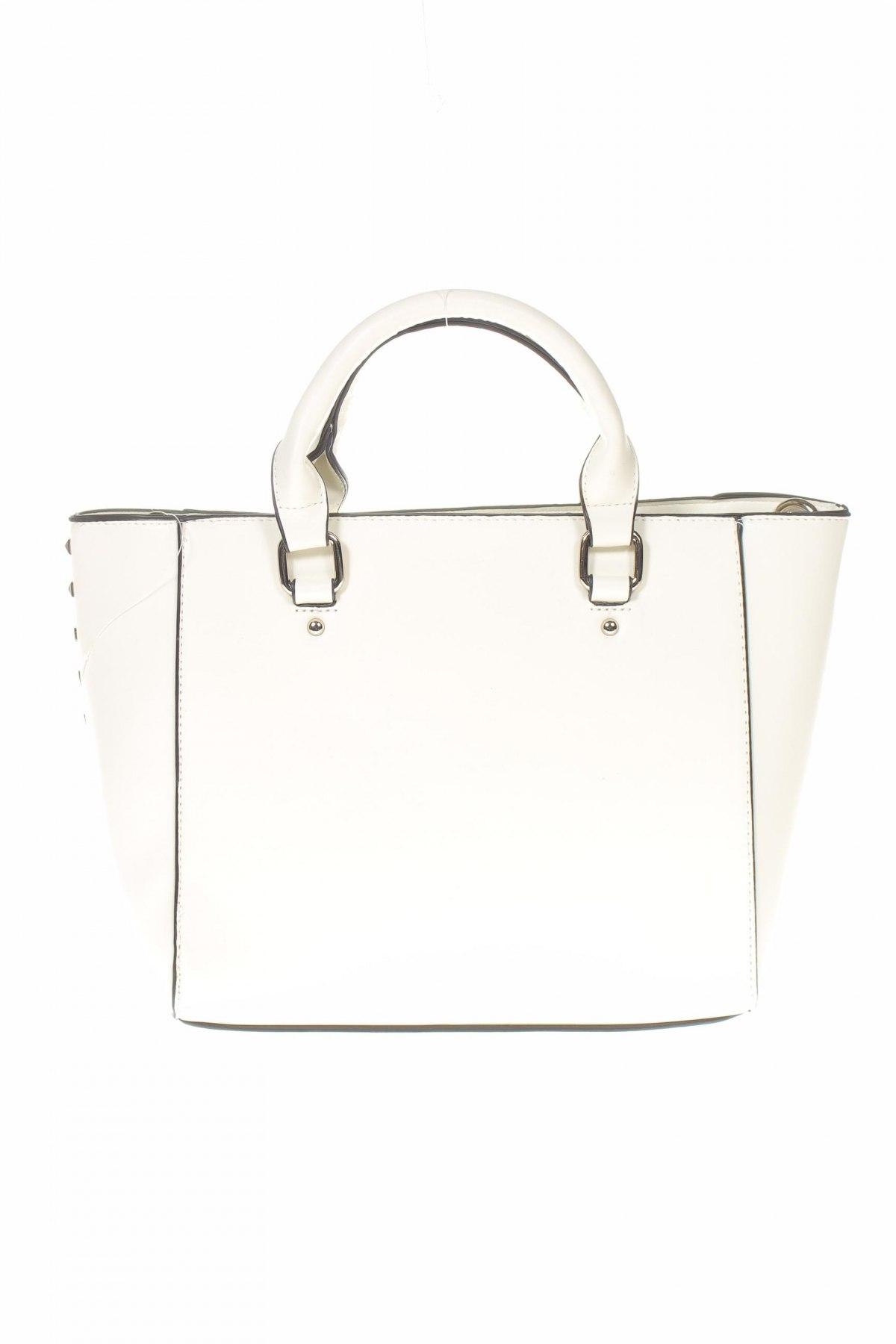 Дамска чанта Sinsay, Цвят Бял, Еко кожа, Цена 24,96лв.