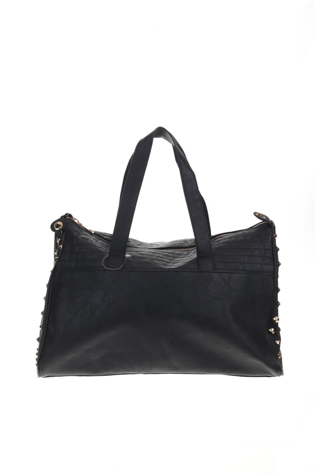Дамска чанта Sinsay, Цвят Черен, Еко кожа, Цена 18,90лв.
