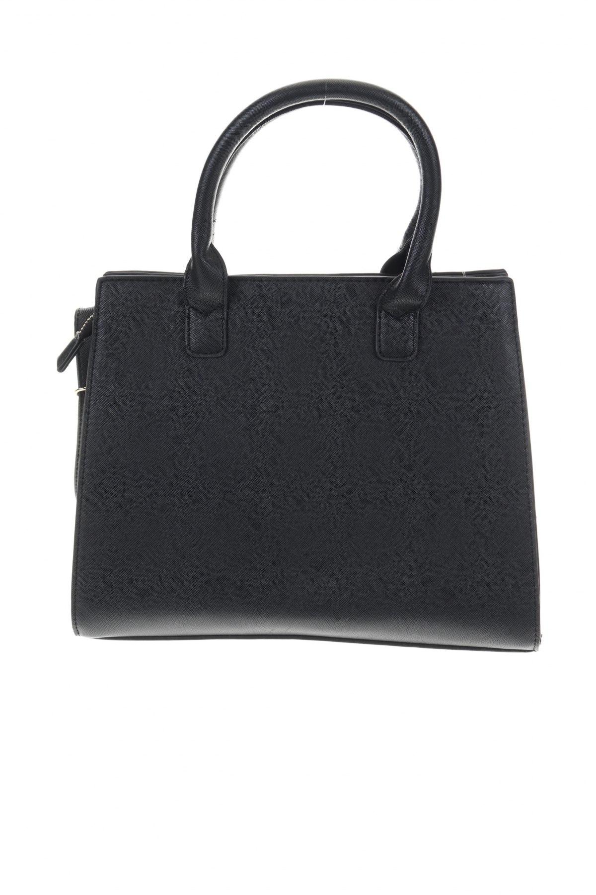 Дамска чанта Sinsay, Цвят Черен, Еко кожа, Цена 29,76лв.