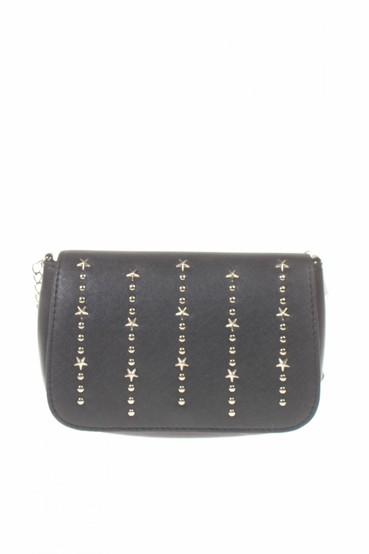 Дамска чанта Sinsay, Цвят Черен, Еко кожа, Цена 31,50лв.