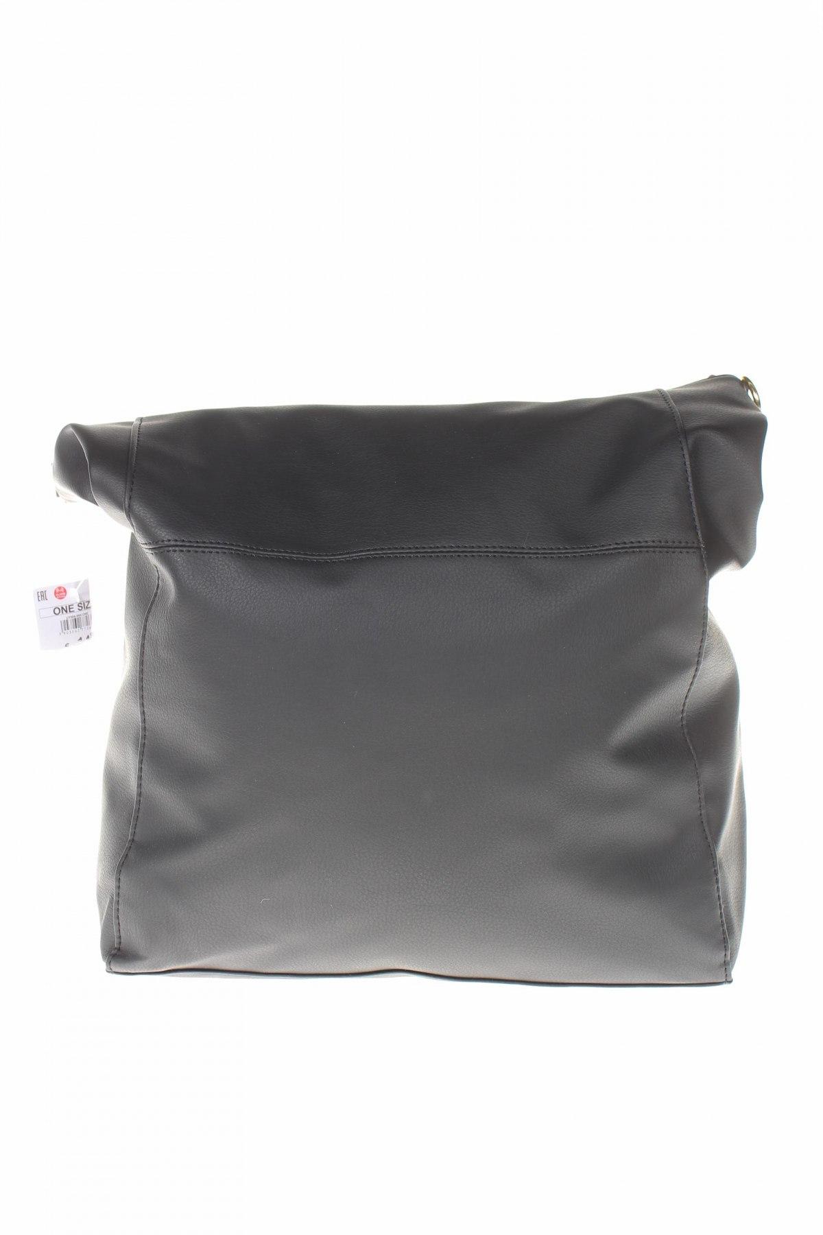 Дамска чанта Sinsay, Цвят Черен, Еко кожа, Цена 31,27лв.