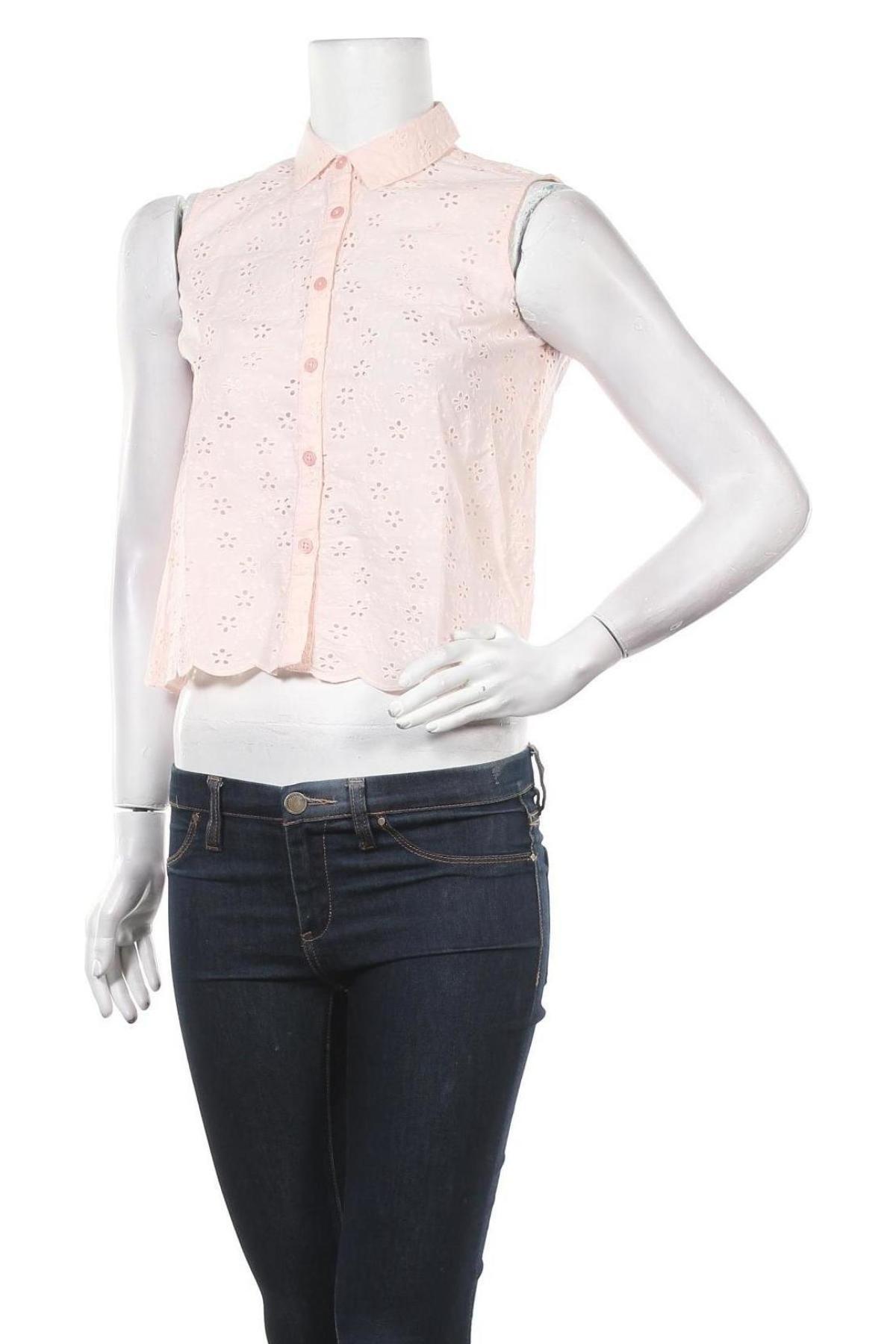 Дамска риза Jack Wills, Размер XS, Цвят Розов, Памук, Цена 25,37лв.