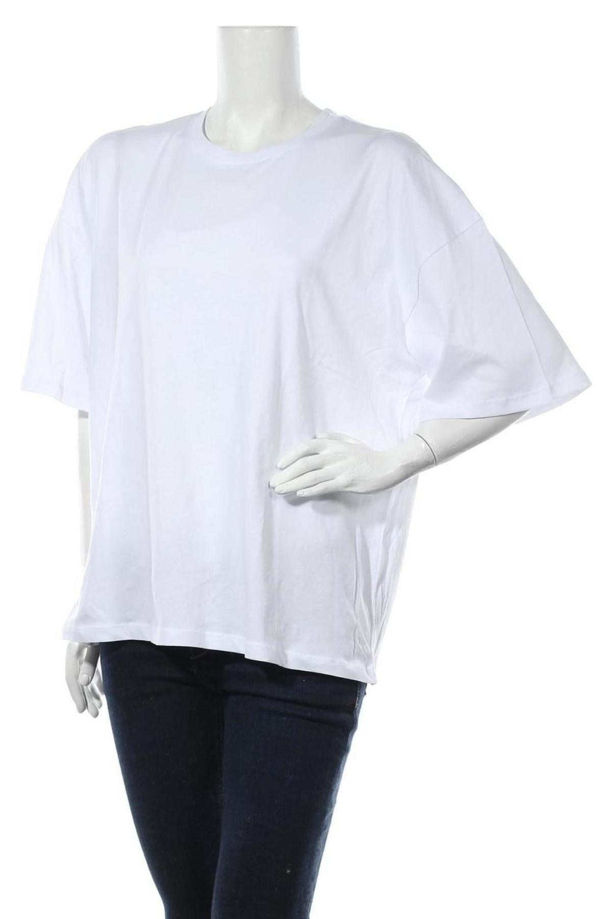 Дамска тениска Even&Odd, Размер S, Цвят Бял, Памук, Цена 11,52лв.