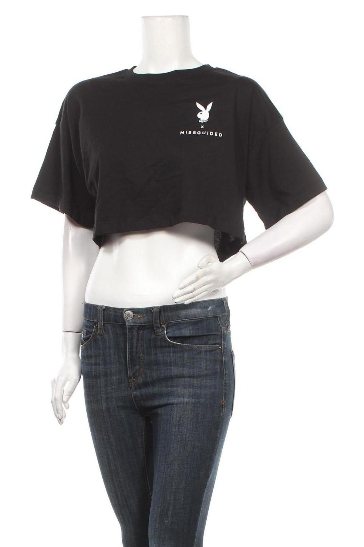 Дамска тениска Missguided, Размер S, Цвят Черен, Цена 20,80лв.
