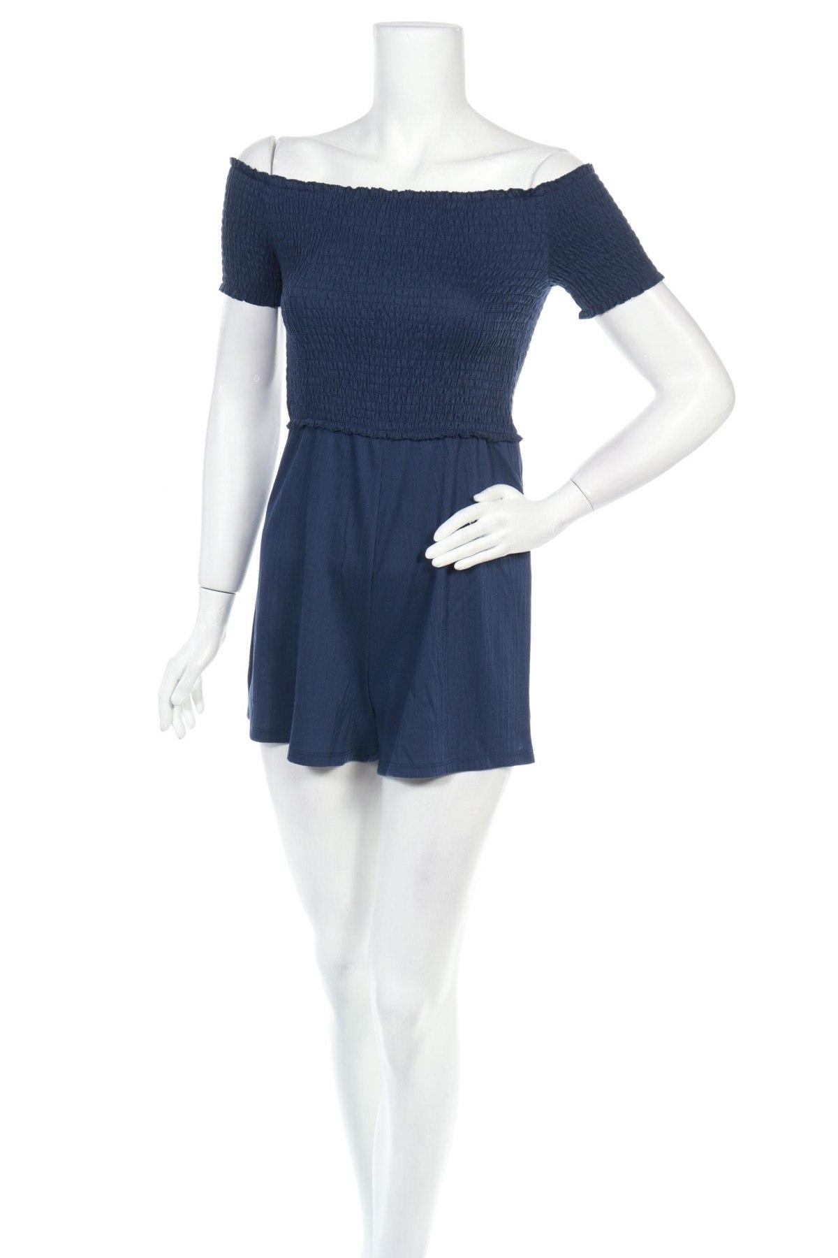 Γυναικεία σαλοπέτα Bershka, Μέγεθος S, Χρώμα Μπλέ, 99% πολυεστέρας, 1% ελαστάνη, Τιμή 11,91€