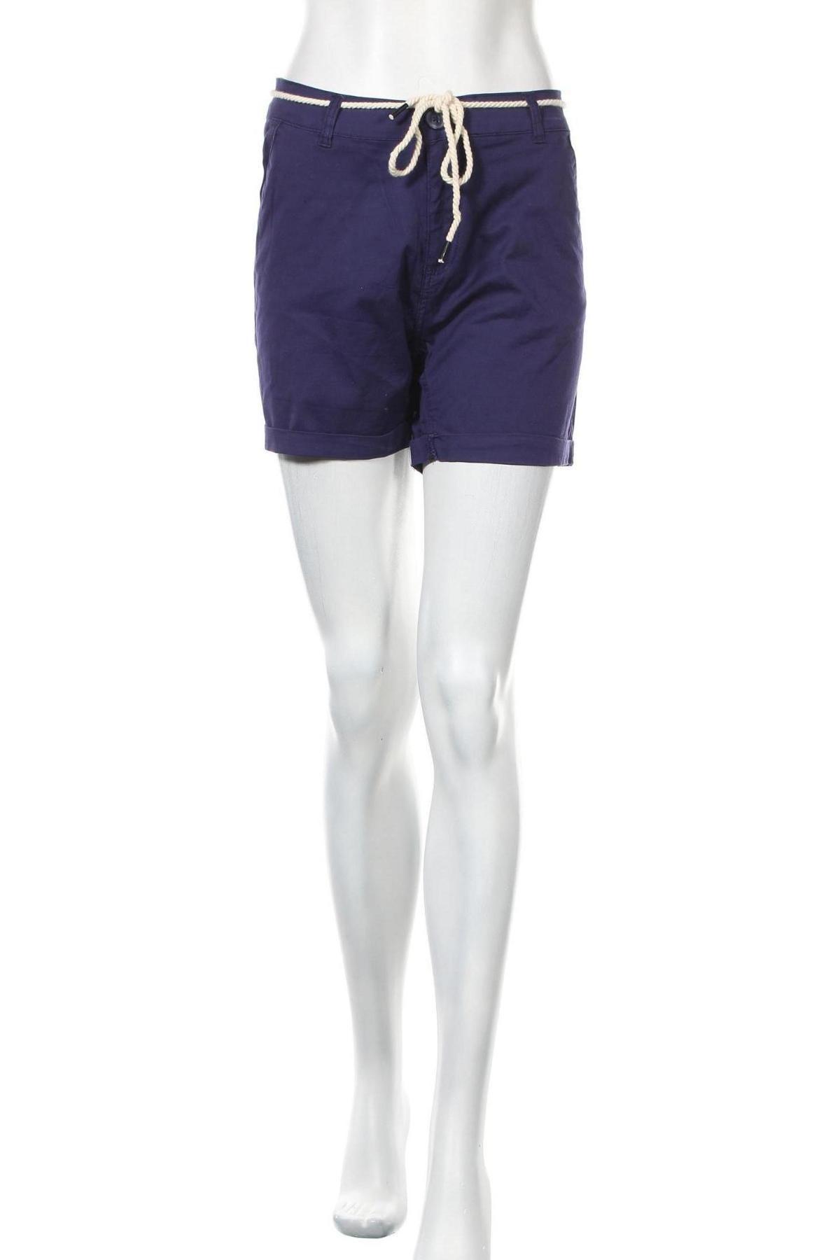 Γυναικείο κοντό παντελόνι Chillin, Μέγεθος M, Χρώμα Μπλέ, 98% βαμβάκι, 2% ελαστάνη, Τιμή 11,75€