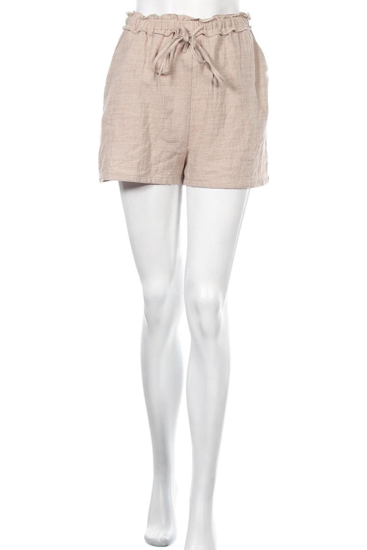 Γυναικείο κοντό παντελόνι Missguided, Μέγεθος S, Χρώμα  Μπέζ, Βαμβάκι, Τιμή 9,64€