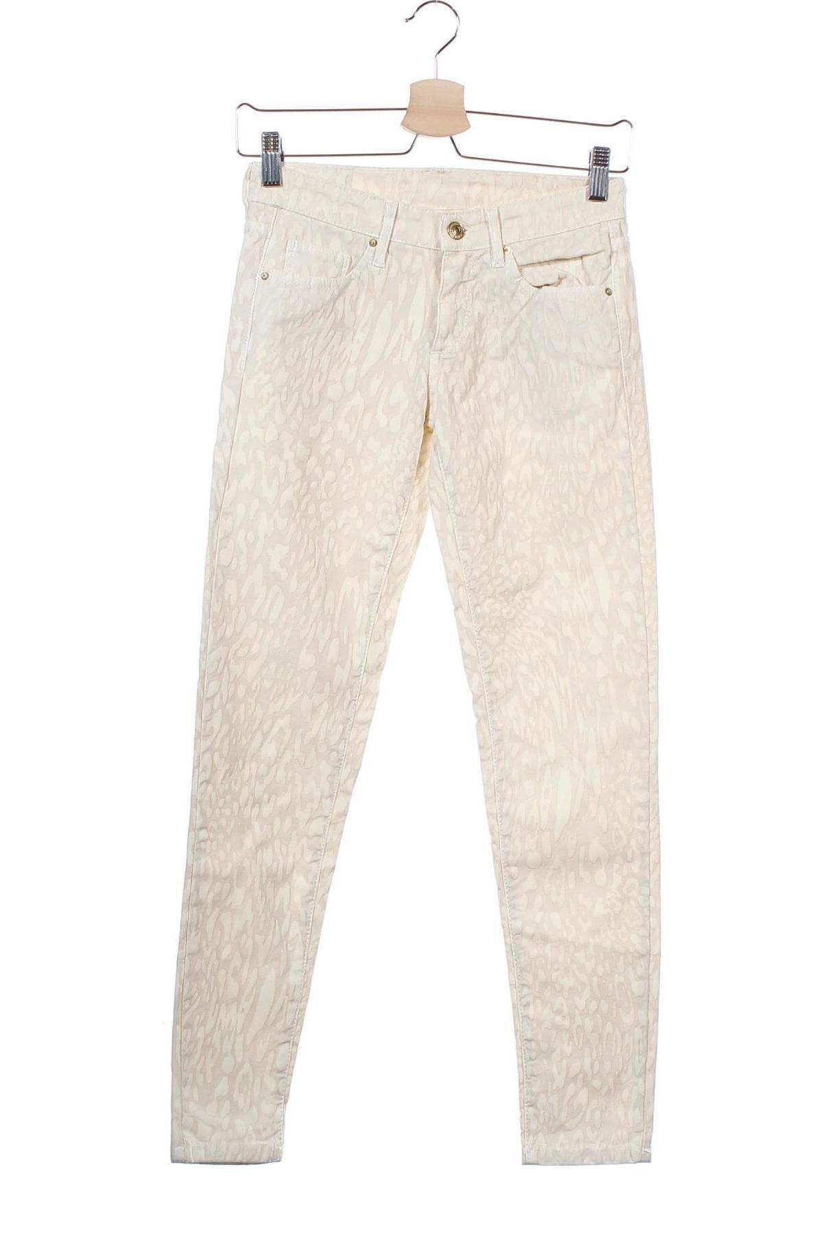 Дамски панталон Zara, Размер XS, Цвят Бежов, 97% памук, 3% еластан, Цена 14,70лв.