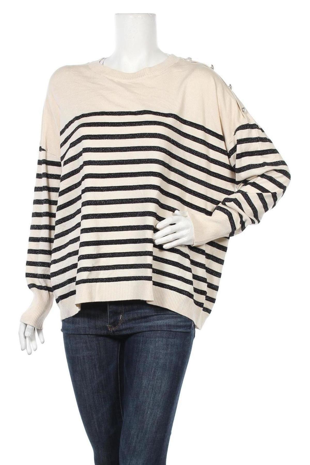 Γυναικείο πουλόβερ Vero Moda, Μέγεθος M, Χρώμα  Μπέζ, 80% βισκόζη, 20% πολυαμίδη, Τιμή 22,81€