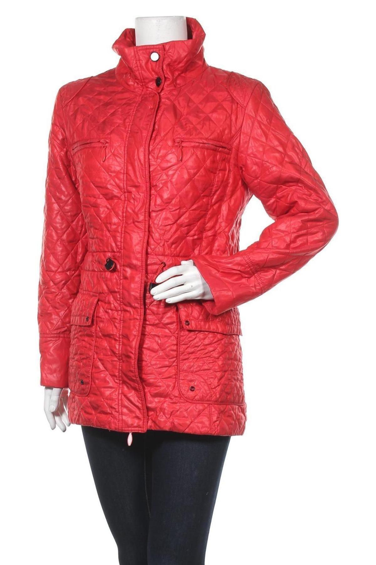 Дамско яке Helena Vera, Размер S, Цвят Червен, 88% полиестер, 12% полиамид, Цена 35,91лв.
