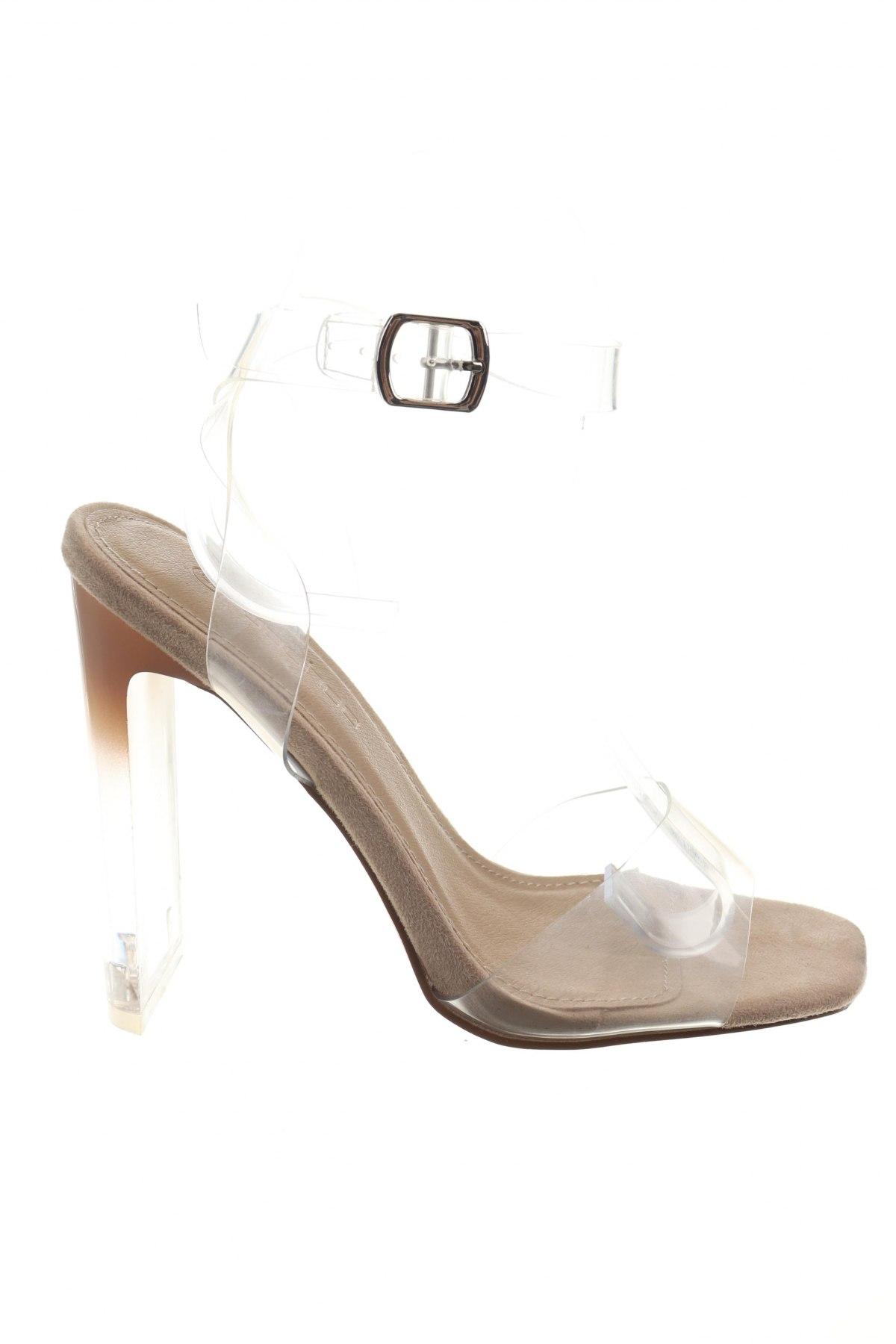 Σανδάλια Boohoo, Μέγεθος 38, Χρώμα Λευκό, Πολυουρεθάνης, Τιμή 16,73€