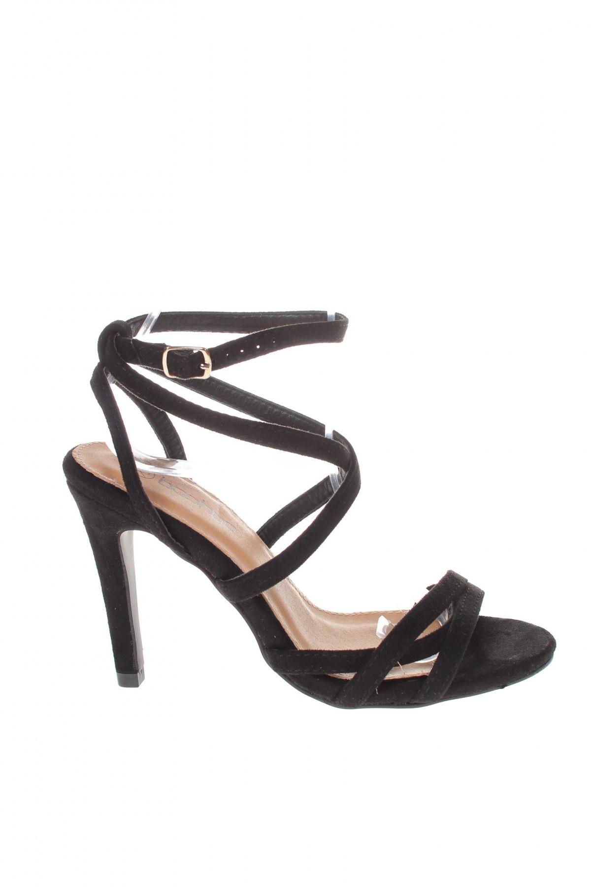 Σανδάλια Boohoo, Μέγεθος 38, Χρώμα Μαύρο, Κλωστοϋφαντουργικά προϊόντα, Τιμή 14,20€
