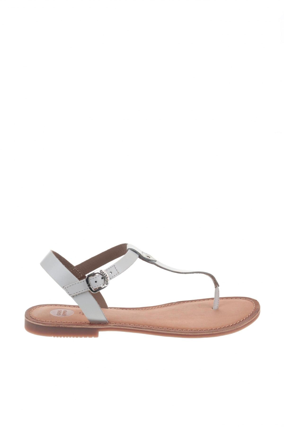 Σανδάλια Gioseppo, Μέγεθος 39, Χρώμα Λευκό, Γνήσιο δέρμα, Τιμή 24,32€