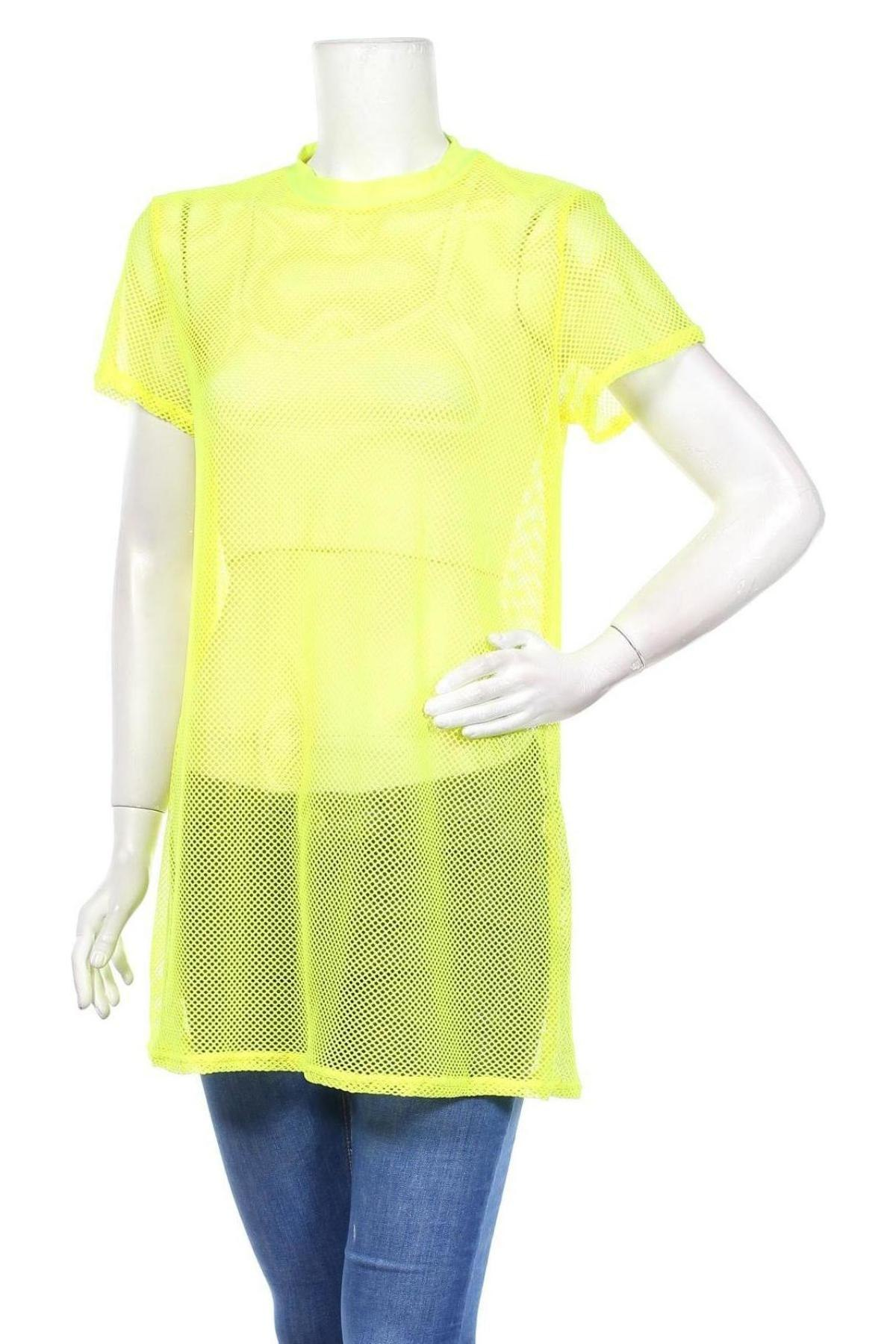 Туника Missguided, Размер S, Цвят Жълт, 95% полиестер, 5% еластан, Цена 34,86лв.