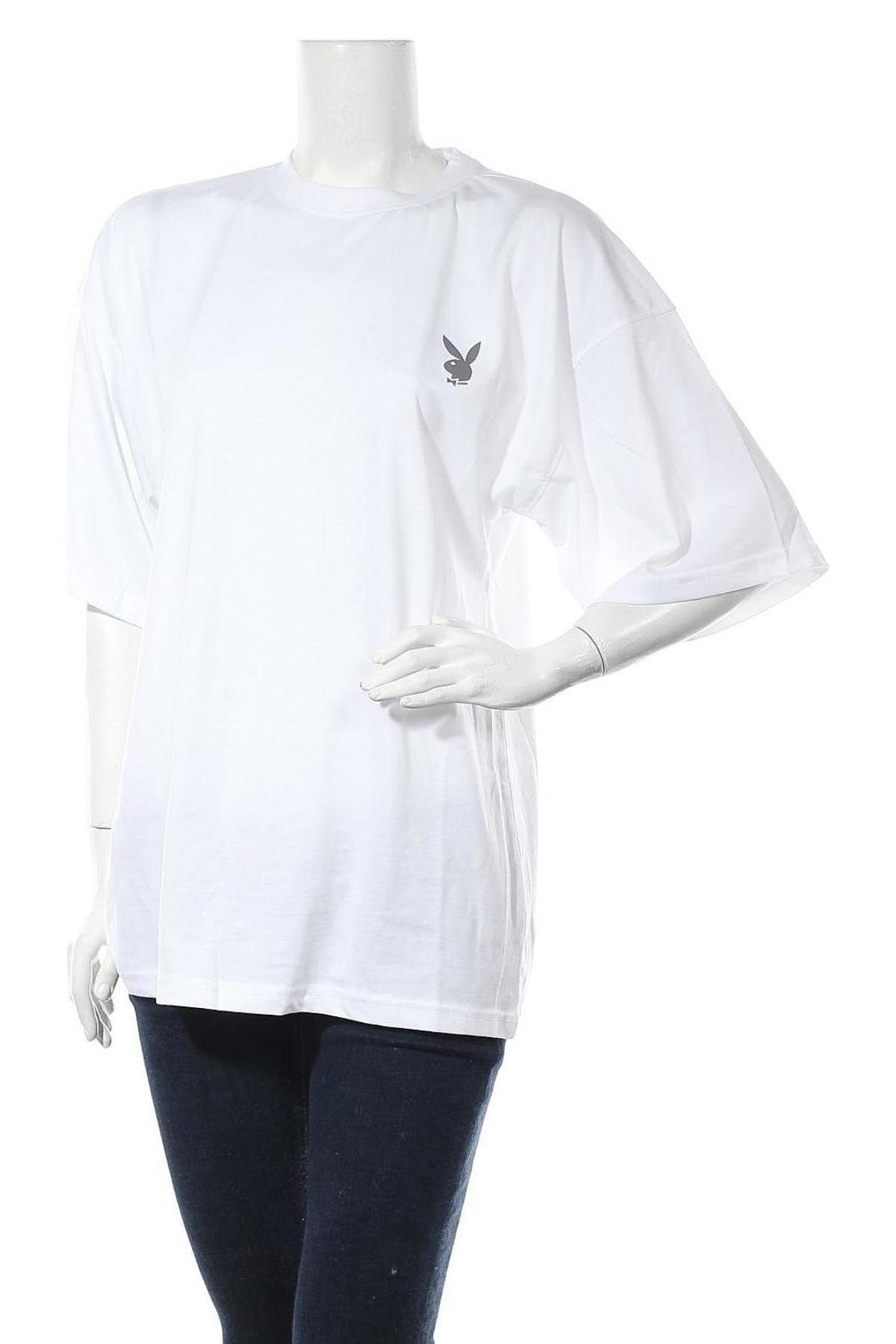 Τουνίκ Playboy x Missguided, Μέγεθος S, Χρώμα Λευκό, Τιμή 11,06€
