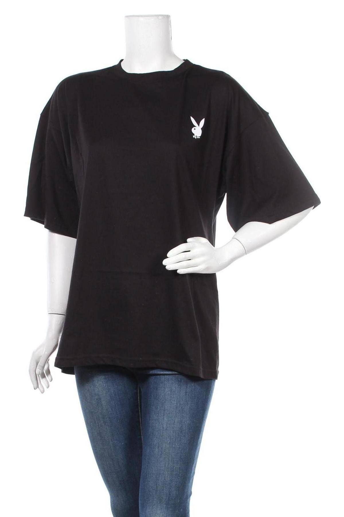 Τουνίκ Playboy x Missguided, Μέγεθος XS, Χρώμα Μαύρο, Τιμή 9,05€