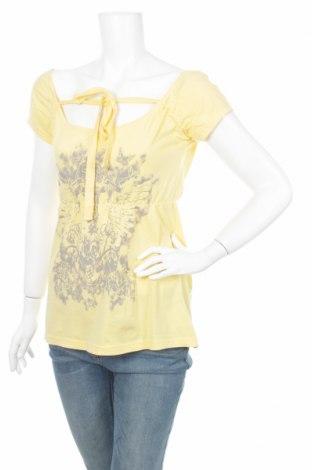 Дамска блуза Authentic Style, Размер M, Цвят Жълт, 100% памук, Цена 5,10лв.