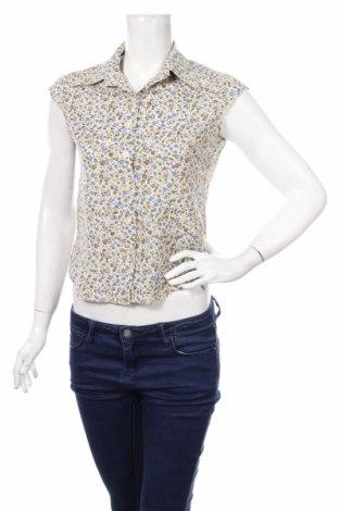 Дамска риза Ally, Размер S, Цвят Многоцветен, 55% памук, 40% полиестер, 5% еластан, Цена 5,50лв.