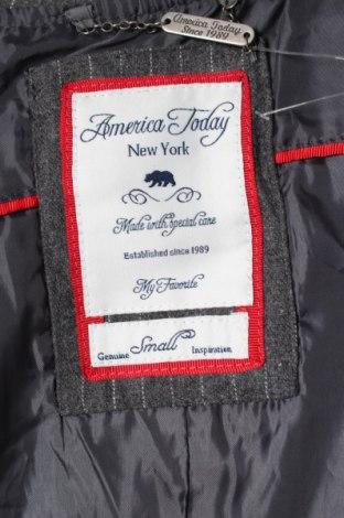 Дамски елек America Today, Размер S, Цвят Сив, 30% вълна, 70% полиестер, Цена 22,95лв.