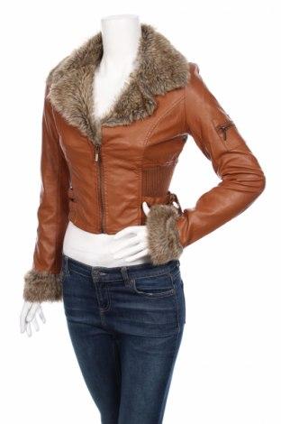 Дамско кожено яке Flamant Rose