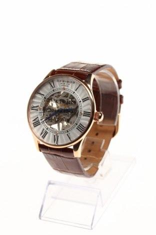 Часовник Akribos XXIV, Цвят Кафяв, Естествена кожа, метал, Цена 272,25лв.