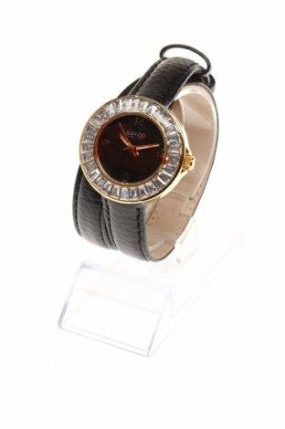 Часовник SO&CO New York, Цвят Черен, Естествена кожа, метал, Цена 91,80лв.