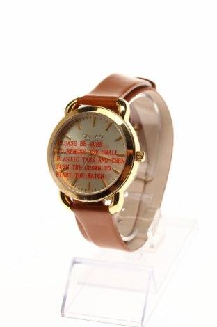 Часовник SO&CO New York, Цвят Кафяв, Естествена кожа, метал, Цена 114,75лв.
