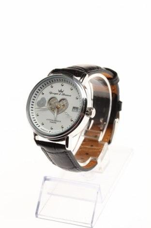 Часовник Yonger & Bresson, Цвят Черен, Естествена кожа, метал, Цена 89,75лв.
