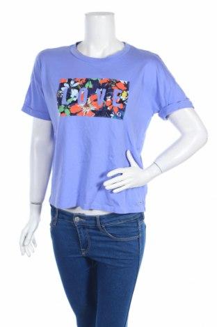Дамска блуза Tom Tailor, Размер XS, Цвят Лилав, Памук, Цена 10,50лв.