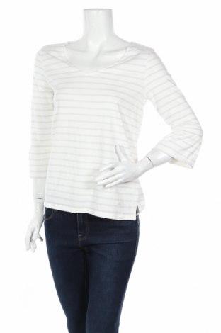 Дамска блуза Tom Tailor, Размер L, Цвят Бял, 45% памук, 45% модал, 10% метални нишки, Цена 22,26лв.