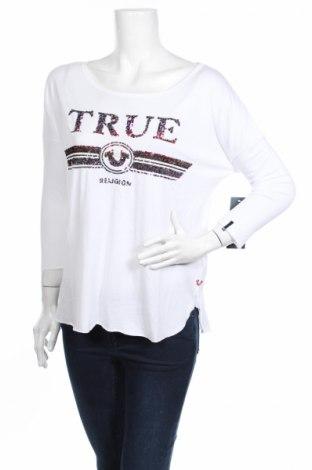 Γυναικεία μπλούζα True Religion, Μέγεθος M, Χρώμα Λευκό, 50% βαμβάκι, 50% μοντάλ, Τιμή 12,86€