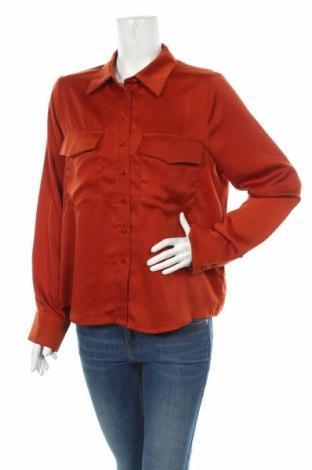 Дамска риза Edited, Размер L, Цвят Кафяв, 80% полиестер, 20% вискоза, Цена 9,66лв.