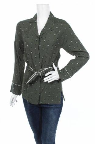 Дамска риза Edited, Размер XS, Цвят Зелен, 53% вискоза, 47% полиестер, Цена 9,66лв.