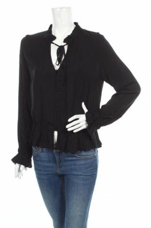 Дамска риза Tigha, Размер L, Цвят Черен, Вискоза, Цена 31,97лв.