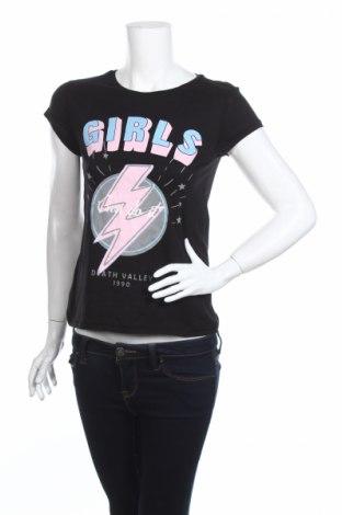 Γυναικείο t-shirt Clockhouse, Μέγεθος XS, Χρώμα Μαύρο, Βαμβάκι, Τιμή 2,47€