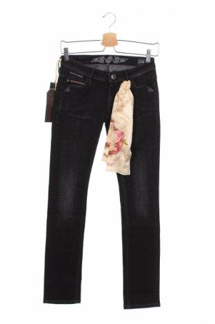 Γυναικείο Τζίν Bandits Du Monde, Μέγεθος XS, Χρώμα Μαύρο, 99% βαμβάκι, 1% ελαστάνη, Τιμή 20,79€