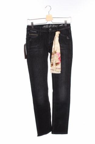 Дамски дънки Bandits Du Monde, Размер XS, Цвят Черен, 99% памук, 1% еластан, Цена 17,68лв.