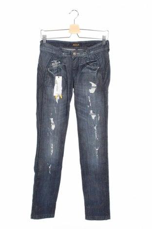 Дамски дънки Killah, Размер XS, Цвят Син, 98% памук, 2% еластан, Цена 18,56лв.