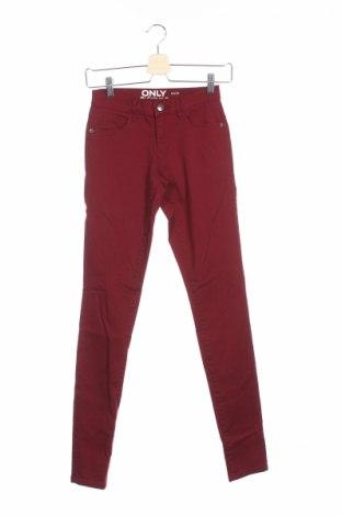 Дамски дънки Only, Размер XS, Цвят Червен, 65% памук, 33% модал, 2% еластан, Цена 13,34лв.