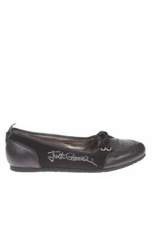 Γυναικεία παπούτσια Just Cavalli, Μέγεθος 39, Χρώμα Μαύρο, Γνήσιο δέρμα, κλωστοϋφαντουργικά προϊόντα, Τιμή 39,02€