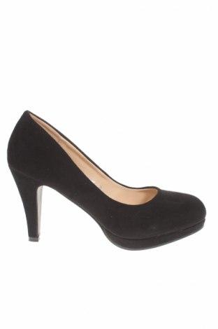 Γυναικεία παπούτσια Manoukian, Μέγεθος 39, Χρώμα Μαύρο, Κλωστοϋφαντουργικά προϊόντα, Τιμή 18,40€