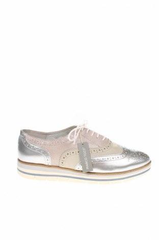 Γυναικεία παπούτσια Marco Tozzi, Μέγεθος 40, Χρώμα Γκρί, Γνήσιο δέρμα, δερματίνη, Τιμή 19,18€