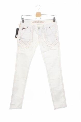 Дамски панталон Bandits Du Monde, Размер S, Цвят Бял, 97% памук, 3% еластан, Цена 19,14лв.